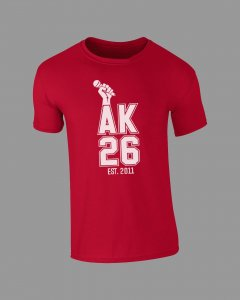 AK26 RED RETRO TSHIRT